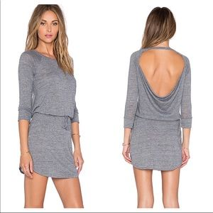 Chaser Open Back Dress With Drawstring Waist